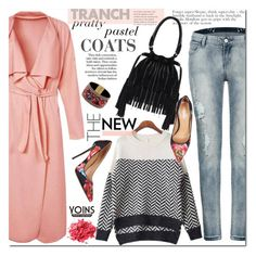 """""""Pretty Pastel Trench Coats"""" by j-sharon ❤ liked on Polyvore featuring Dsquared2, women's clothing, women's fashion, women, female, woman, misses, juniors, yoins and pasteltrenches"""