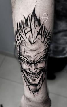 Joker tattoo by Szymon Olech