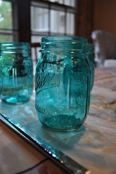 How to tint mason jars using Modge Podge and food coloring! Cheap, easy, and so fun!