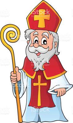 Saint Nicolas theme image 1 Saint Nicolas, Free Vector Art, Craft Activities, Christmas Crafts, Saints, Crafts For Kids, Clip Art, Illustration, Fictional Characters