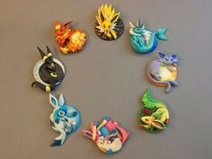jolteon, vaporeon, espeon, leafeon, sylveon, glaceon, umbreon, flareon, pokemon