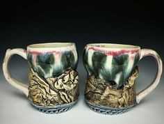 Connect with your Earth and buy a piece in the shop! Experience Crystal's textures firsthand and choose to explore her sculptural pottery through touch. City Lights, Pottery, Earth, Ceramics, Sculpture, Texture, Mugs, Crystals, Stuff To Buy