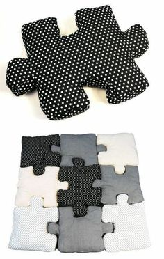 Cute idea!  Puzzle pillows