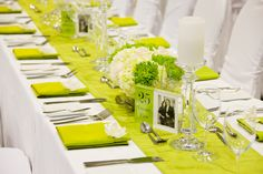 green and white #wedding #decorations