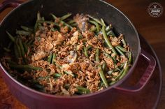 Green Bean Casserole is made with fresh Hericot Vert green beans ...