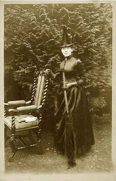 A witch and her chair...rather regal looking, in fact