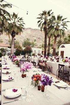 #tablescapes  Photography: Joy Marie Photography - joymariephoto.com Event Design: Amy Kaneko Events - amykaneko.com Floral Design: The Velvet Garden - thevelvetgarden.com  Read More: http://www.stylemepretty.com/2012/03/27/palm-springs-wedding-by-amy-kaneko-events/
