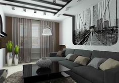 modern Gray living room furniture