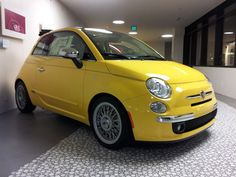 Bright Fiat 500 with Borrani Rims!