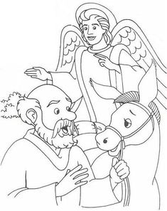 balaam and the talking donkey coloring pages - Google Search