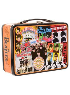 Beatles Albums Retro Lunchbox at PLASTICLAND
