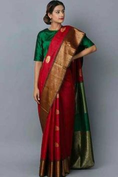 4bf988b7b3 Refreshing Maroon Colored Wedding Wear Soft Silk Saree Sari Design, Sari  Blouse, Saree Blouse