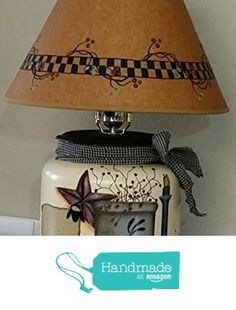 Primitive Country Still Life Large Table Lamp from Primitive Country Loft House https://www.amazon.com/dp/B019EMTJEW/ref=hnd_sw_r_pi_awdo_Y.ElybHX0RM4D #handmadeatamazon