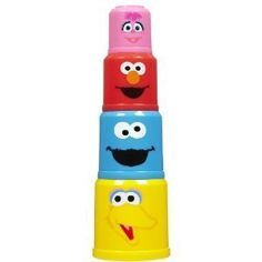 Sesame Street Nesting Cups by Hasbro. $13.95. Stack, count, nest, scoop, pour and even build your favorite Sesame Street characters. There are so many ways to play with these nesting cups, which come in four different colors and characters.Product Dimensions (inches): 3.5 (L) x 4 (W) x 11 (H)Age: 6 months to 3 years