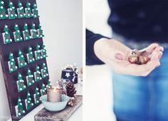 butiksofie: BmK part 5 DIY spruce forest advents calendar - use matchboxes to hide little surprises!