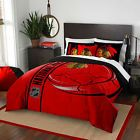 Chicago Blackhawks Comforter Set Twin Black Yellow 2pc NHL Bedding Bed Cover NEW