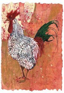 Folk Art Rooster print kitchen art from by MarciaMcKinzieArt