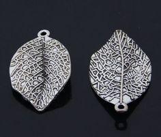 8шт Ретро Тибетское серебро(листья деревьев)ювелирные аксессуары Оптовая PJ2577 | ибее