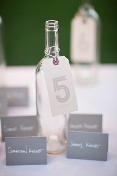 Grey place cards