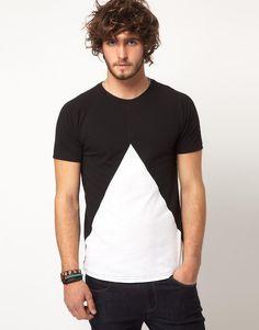 ASOS | ASOS T-Shirt With Insert Triangle at ASOS