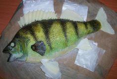 okoun , 3D dorty, fotopostupy | Dorty od mamy Fish, 3d, Meat, Cake, Alcohol, Pisces