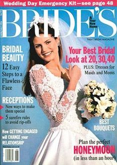 Since BRIDES magazine debuted 75 years ago, during the Great Depression (interesting time to launch a magazine, no? Got Married, Getting Married, Flawless Face, Cover Model, Bridal Beauty, Heidi Klum, Bridal Fashion, Cover Photos, Bridal Style