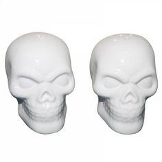 Saleiro e pimenteiro Skull