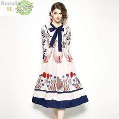 127ef406d1 Long Sleeves Bow Collar Baroque Print Casual Dress Pink Dress Dresses Boho  Wedding Dress