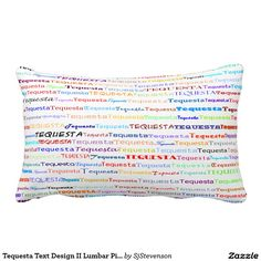 Tequesta Text Design II Lumbar Pillow