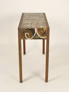 Mosaic Tile Top Console Table