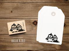 Tiere - Stempel Pinguine Oscar & Ole - ein Designerstück von catsonappletrees bei DaWanda