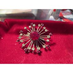 vintage French silvertone brooch deep red/clear stones round in good condition Listing in the 1950s-1970s,Antique & Vintage,Jewellery & Watches Category on eBid United Kingdom | 144183619