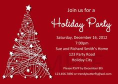 Christmas Party Invitation Free Download | Invitations free download. Get this nice Christmas for your party ...