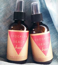Brooklyn Beach Hair Spray by Brooklyn Beach on Scoutmob Shoppe. A mellow woodsy/floral scent. With natural sea salt and jojoba oil that gives your hair volume and moisture.
