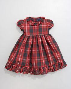 Tartan Plaid Taffeta Dress - Neiman Marcus