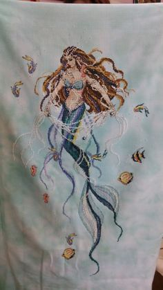 Mystery Mermaid by Passione Ricamo.  Oh, beautiful! This is a patter by Passione Ricamo of Italy.  She has some amazing designs.