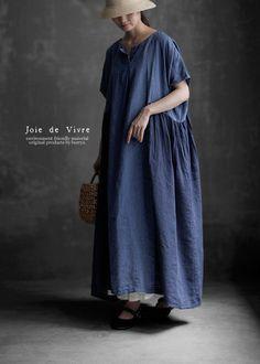 【送料無料】Joie de Vivre フレンチリネン中白インディゴ染めバイオカマイユワンピース Korean Babies, Normcore, Dresses, Nest, Style, Live, Baby, Fashion, Japanese Fashion
