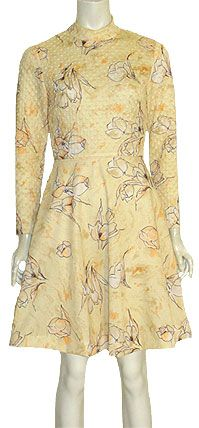 Mod Vintage 1960s Yellow Dress