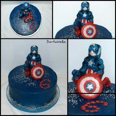 CAPTAIN AMERICA Captain America, Cake, Desserts, Food, Tailgate Desserts, Deserts, Capitan America, Food Cakes, Eten