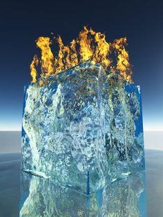 Burning Ice - Bruce Rolff Stock Photo