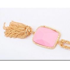 {Sale} Pink and Gold Tassel Necklace ✨Pink and Gold tassel necklace✨ GlamVault Jewelry Necklaces