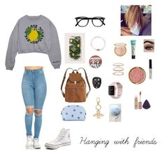 """""""Hanging with friends"""" by beach-baby-15 ❤ liked on Polyvore featuring Converse, BAGGU, Sonix, Accessorize, Miu Miu, tarte, Milani, Too Faced Cosmetics, Gucci and LULUS"""