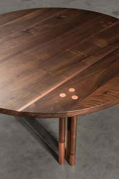 Canfield Coffee Table by AntonMakaDesigns Solid Walnut w/ Copper Inlay 42 L x 42 W x 16 H CUSTOM SIZING AVAILABLE