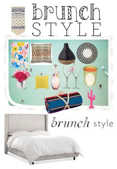 """""""Brunch style"""" by floralooo on Polyvore featuring ban.do, Nordstrom, Nipomo, Sunnylife, Ladurée, Dot & Bo, KAS Australia, Kosta Boda, Waterford and Bloomingville"""