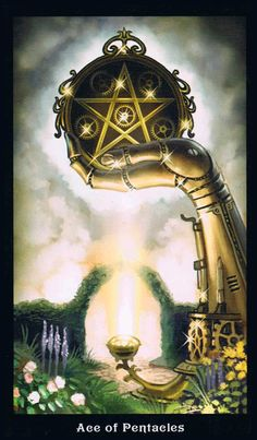 The Ace of Pentacles - Steampunk Tarot