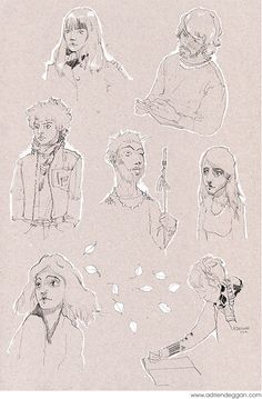 Various illustration pieces from different projects.