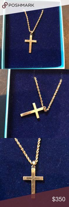 Wholesale 10X Fashion Jewelry 18K Gold Filled Cross Colliers chaînes pour pendentif