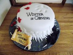 Game of Thrones cake House Stark                                                                                                                                                                                 More