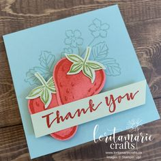 A Sweet Strawberry Bundle of Joy! Christmas Projects, Christmas Themes, Thankful For Friends, Pretty Cards, Thank You Gifts, Stampin Up Cards, Making Ideas, Note Cards, Mini