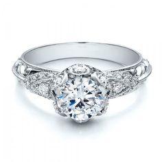 Knife Edge Diamond Engagement Ring - Vanna K